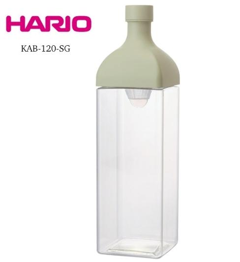 金時代書香咖啡 HARIO 方形粉綠冷泡茶壺 1200ml KAB-120-SG