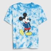 Gap男童GapxDisney迪士尼系列上衣539465-藍色紮染