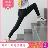 魔術褲 魔術黑色打底褲女外穿薄款新款夏季黑色高腰顯瘦九分小腳 鉅惠85折
