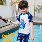兒童泳衣男童中大童分體游泳衣可愛卡通泳裝