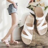 拖鞋女外穿時尚百搭夏海邊沙灘女士外出2019新款網紅懶人鞋涼拖鞋優品匯