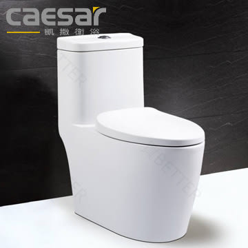 【買BETTER】凱撒馬桶/凱撒衛浴 C1364/C1464超省水單體馬桶搭配M234緩降馬桶蓋★送6期零利率