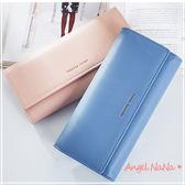 年中慶,限時皮夾飾品兩件68折~長夾-高質感防磨耐刮簡約長款女皮夾  Angelnana (SMA0245)
