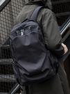 HK雙肩包男簡約個性書包正韓時尚潮流休閑電腦包戶外旅行輕便背包