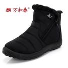 新款布鞋女棉鞋加絨加厚防水保暖雪地靴中老年棉靴媽媽棉鞋