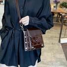 斜挎包 漆皮小包包女新款潮韓版百搭斜背包高級感洋氣單肩時尚小方包 3C優購