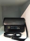■專櫃55折■全新真品■Proenza Schouler PS11 mini 小牛皮斜背包 黑色