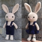 長耳兔玩偶娃娃鉤針編織diy手工材料包禮物【時尚大衣櫥】