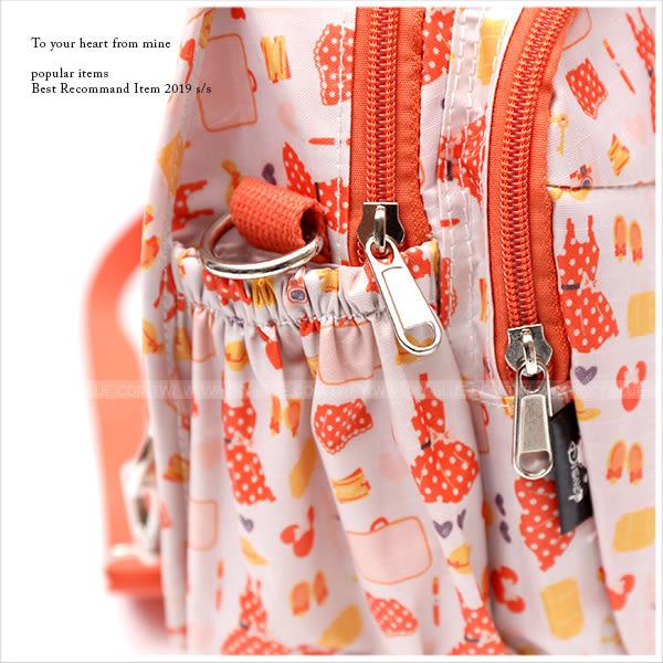 後背包-迪士尼活力甜橙米妮輕旅系列後背/斜背包-單1款-A17172694-天藍小舖