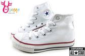 All STAR★Converse 基本款 童鞋 鞋帶 中童高筒帆布鞋 G9844#白◆OSOME奧森童鞋/小朋友