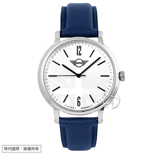 【MINI Swiss Watches】Cooper設計概念 時尚腕錶 MINI-160625 白 42mm