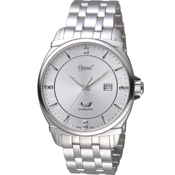 Ogival愛其華典藏真鑽紳士錶  350-04MS