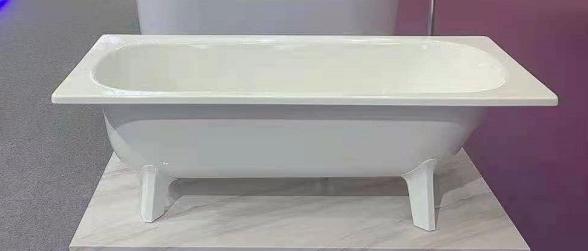 【麗室衛浴】BATHTUB WORLD H-414 高級鋼板琺瑯獨立浴缸 保溫效果佳 160*70*52CM