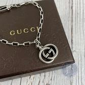 BRAND楓月 GUCCI 古馳 GG LOGO 吊墜 925純銀 銀鍊 手鍊 手環 銀飾 飾品 配件