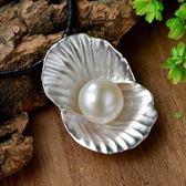 項鍊 925純銀珍珠吊墜-氣質百搭生日情人節禮物女飾品73hi71【時尚巴黎】