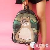 後背包-原創貓咪印花可愛書包中大學生雙肩包男女學院風校園背包-奇幻樂園