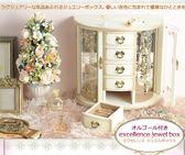 日本製原木木製公主法式珠寶盒912134通販屋