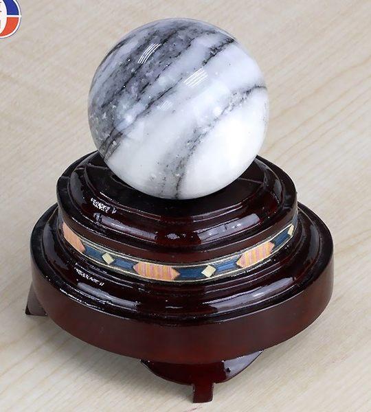 [協貿國際]天然斑馬石圓球保健球手球單顆價(不含底座)