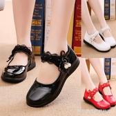女童皮鞋春秋2019新款兒童單鞋女孩公主鞋小學生白色黑色演出鞋子