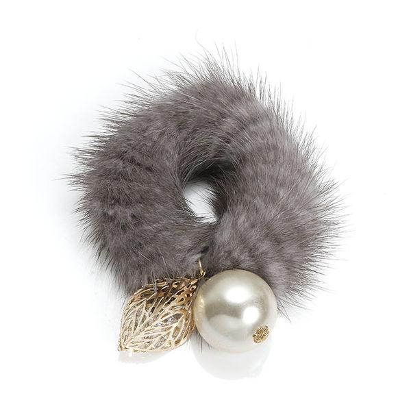 正韓冬季暖軟毛毛髮圈髮飾~夏綠蒂didi-shop