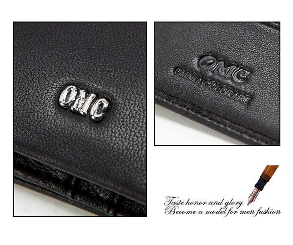 OMC - 柔軟羊皮款真皮12卡2照左右翻長夾