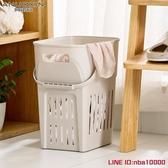 洗衣籃千嶼大號棉麻臟衣籃洗衣簍裝衣物籃子浴室放臟衣服桶玩具框收納筐JD CY潮流