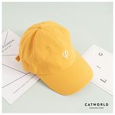 Catworld 單字母刺繡棒球帽【18003786】‧F