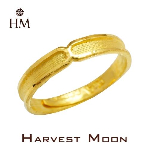 Harvest Moon 富家精品 黃金尾戒 交集X線 9999 純金金飾 女尾戒子 黃金戒指 可調式戒圍 GR03907