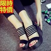 涼鞋-楔型真皮時尚性感高跟流行厚底女休閒鞋3色69w22【巴黎精品】