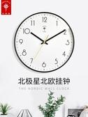 特惠掛鐘北極星掛鐘客廳北歐鐘錶家用創意時鐘現代簡約大氣掛錶時尚石英鐘LX