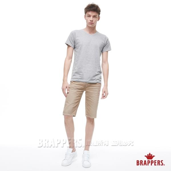 BRAPPERS 男款 HC Cargo系列-中腰彈性五分短褲-卡其
