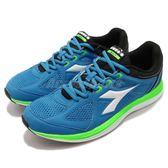 DIADORA 慢跑鞋 Heron 2 藍 綠 高透氣網布 吸震 EVA中底 基本款 運動鞋 男鞋【PUMP306】 DA172865C7317