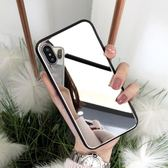 鏡子XR玻璃鏡面max蘋果xs手機殼7p潮牌8plus新款iphone6s掛繩 韓慕精品