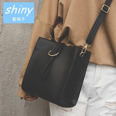 【P131】shiny藍格子-復古女包.時尚潮流韓版簡約小方包單肩斜挎包
