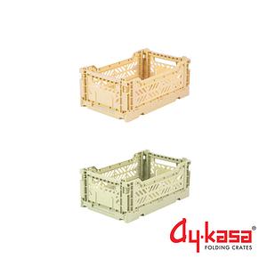 土耳其Ay-kasa S折疊收納箱2入組-香蕉抹茶