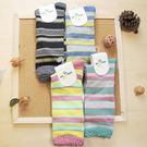 襪子 古著復古 日本氣質個性 SEIO 經典個性獨特圖型 簡約百搭 經典色撞色粗款橫條 襪子(隨機出貨)