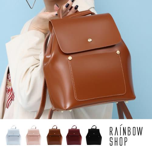 後背包-英倫復古皮革三用後背包-C-Rainbow【A12121533】