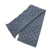 LOUIS VUITTON LV 路易威登 藍色原花羊毛圍巾 M78525 Monogram Classic Muffler