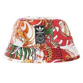 adidas 帽子 Original Dragon Print Bucket Hat 三葉草 漁夫帽 龍紋 彩色 紅 橘 男女款 【PUMP306】 S87025