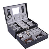 手錶盒首飾高檔收納盒戒指耳釘項鍊手鍊大容量飾品收納盒手錶收納盒