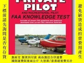 二手書博民逛書店Private罕見Pilot and Recreational Pilot FAA Knowledge Test: