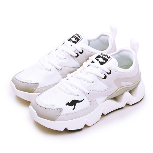 LIKA夢 KangaROOS 美國袋鼠鞋 休閒運動老爹鞋 GROOVE II音樂律動系列 米白棕 11261 女