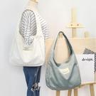 新款韓國帆布包百搭文藝帆布斜背包女帆布手提包袋女包