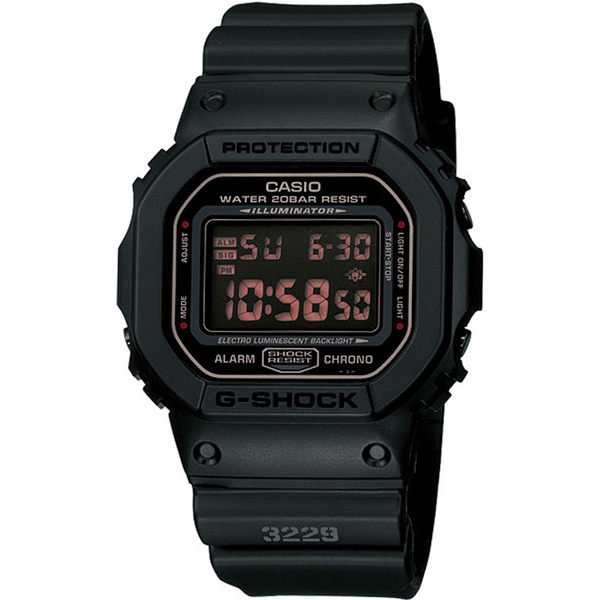 G-SHOCK黑色基本款運動腕錶 DW-5600MS-1
