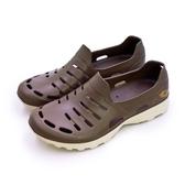 LIKA夢 LOTTO 晴雨穿搭戶外休閒運動涼鞋 ROSSA系列 咖啡棕 6833 男