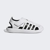 Adidas Water Sandal C [FY6044] 小童鞋 運動休閒 涼鞋 魔鬼氈 游泳 海灘 愛迪達 白 黑