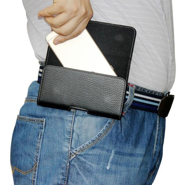 手機包穿皮帶掛腰包男士老人中年爸爸皮套袋子別挎褲腰間橫款式新 coco