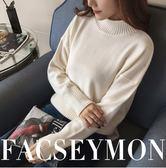 素色高領毛衣女 高領毛衣學院風針織毛衣打底衫長袖毛衣S XL11 色