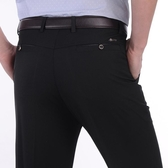 夏季薄款中年男士休閒褲中老年人長褲男褲寬鬆春裝西褲爸爸裝褲子