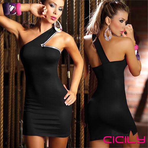 情趣用品 蘇菲24H購物 虐戀精品CICILY 選美皇后 彈力包臀斜肩緊身裙 夜店衣 NLS1116